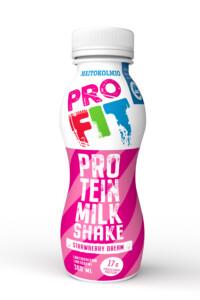 Maitokolmio_Profit_Proteinmilkshake_Strawberry_dream